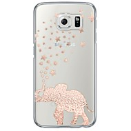 Pink Elephant Pattern Soft Ultra-thin TPU Back Cover For Samsung GalaxyS7 edge/S7/S6 edge/S6 edge plus/S6/S5/S4