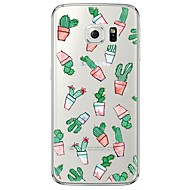 billige Galaxy S4 Etuier-For Samsung Galaxy S7 Edge Transparent Mønster Etui Bagcover Etui Tegneserie Blødt TPU for SamsungS7 edge S7 S6 edge plus S6 edge S6 S5