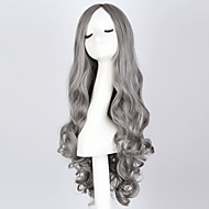 Недорогие Парики из искусственных волос-жен. Парики из искусственных волос Без шапочки-основы Волнистые Серый монолитным парики Парик для Хэллоуина Карнавальный парик