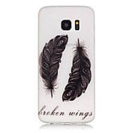 olcso Galaxy S6 Edge Plus tokok-Case Kompatibilitás Samsung Galaxy Samsung Galaxy S7 Edge Foszforeszkáló Minta Fekete tok Tollak Puha TPU mert S8 Plus S8 S7 edge S7 S6