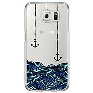Недорогие Чехлы и кейсы для Galaxy S-Кейс для Назначение SSamsung Galaxy Samsung Galaxy S7 Edge Ультратонкий Полупрозрачный Кейс на заднюю панель анкер Мягкий ТПУ для S7 edge