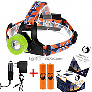 U'King ZQ-X8001 Headlamps Headlight LED 2000 lm 3 Mode Cree XM-L T6 with Batteries and Chargers Zoomable Adjustable Focus Rechargeable
