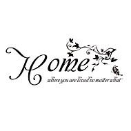 otthon, ahol szeretik idézet matrica pillangó és a szőlő matricák