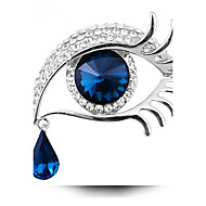 בגדי ריקוד נשים סוליטר עגולות תפס לשיער קריסטל נשים מותאם אישית אופנתי סִכָּה תכשיטים כחול זהב /  שחור זהב /  כחול עבור Party יומי קזו'אל
