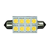 10x sıcak beyaz fisto 42mm 5050 8-smd 211-2 578 569 kubbe haritası iç ışık led