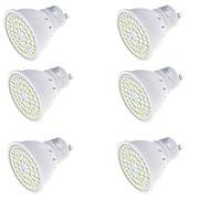 お買い得  LED スポットライト-YouOKLight 6本 250lm GU10 LEDスポットライト MR16 48 LEDビーズ SMD 2835 装飾用 温白色 / クールホワイト 220-240V