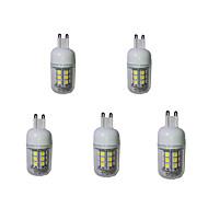 お買い得  LED コーン型電球-5個 3000-3200/6000-6500lm G9 LEDコーン型電球 T 27 LEDビーズ SMD 5050 装飾用 温白色 クールホワイト 220-240V