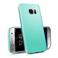 お買い得  Samsung 用 ケース/カバー-ケース 用途 Samsung Galaxy Samsung Galaxy S7 Edge つや消し バックカバー ソリッド PC のために S7 edge / S7