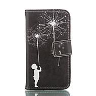 Для Кейс для  Samsung Galaxy Кошелек / Бумажник для карт / со стендом / Флип Кейс для Чехол Кейс для Одуванчик Мягкий Искусственная кожа