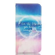 """Для Кейс для  Samsung Galaxy Кошелек / Бумажник для карт / со стендом Кейс для Чехол Кейс для Рисунок """"Ловец снов"""" МягкийИскусственная"""