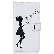 Для Кейс для  Samsung Galaxy Бумажник для карт / Кошелек / со стендом / Флип Кейс для Чехол Кейс для Соблазнительная девушка Мягкий