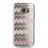billige Galaxy S7 Edge Etuier-For Samsung Galaxy S7 Edge Transparent Mønster Etui Bagcover Etui Linjeret / bølget Blødt TPU for Samsung S7 edge S7 S6 edge S6 S5