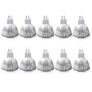 お買い得  LED スポットライト-ZDM® 10個 3W 250-300lm MR16 LEDスポットライト 1pcs LEDビーズ COB 装飾用 温白色 クールホワイト 12V