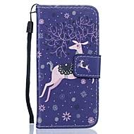 Для Кейс для  Samsung Galaxy Кошелек / Бумажник для карт / со стендом Кейс для Чехол Кейс для Животный принт Твердый Искусственная кожа