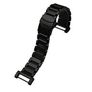 Negro / Plata Acero Inoxidable Correa Deportiva Para Suunto Reloj 24mm