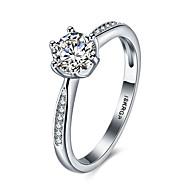preiswerte -Damen bezaubernd Sterling Silber / Zirkon / Kubikzirkonia Statement-Ring / Bandring - Sechs Krappen Personalisiert / Luxus / Böhmische