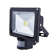 billige LED-projektører-HRY LED-projektører Sensor Vandtæt Udendørsbelysning Varm hvid Kold hvid AC 85-265V