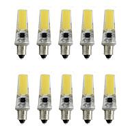 お買い得  LED スポットライト-10個 3 W 800 lm E11 LEDスポットライト T 1 LEDビーズ COB 装飾用 温白色 / クールホワイト 220-240 V / RoHs