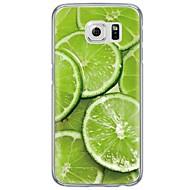 Voor Samsung Galaxy S7 Edge Ultradun / Doorzichtig hoesje Achterkantje hoesje Fruit Zacht TPU SamsungS7 edge / S7 / S6 edge plus / S6