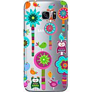 Mert Samsung Galaxy S7 Edge Minta Case Hátlap Case Bagoly Puha TPU Samsung S7 edge / S7 / S6 edge plus / S6 edge / S6