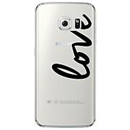 Для Samsung Galaxy S7 Edge Прозрачный / С узором Кейс для Задняя крышка Кейс для Слова / выражения Мягкий TPU SamsungS7 edge / S7 / S6