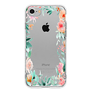 Para Funda iPhone 7 / Funda iPhone 7 Plus / Funda iPhone 6 Diseños Funda Cubierta Trasera Funda Flor Suave TPU para AppleiPhone 7 Plus /