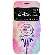Недорогие Чехлы и кейсы для Galaxy S6 Edge Plus-Кейс для Назначение SSamsung Galaxy Samsung Galaxy S7 Edge Бумажник для карт со стендом Чехол Ловец снов Твердый Кожа PU для S7 edge S7