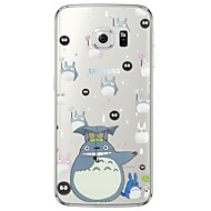 cartoon totoro patroon soft ultra-dunne TPU achterkant voor samsung galaxys7 rand S7 s6 rand s6 rand plus s6 s5 s4