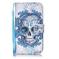 Назначение iPhone 8 iPhone 8 Plus Чехлы панели Кошелек Бумажник для карт Чехол Кейс для Черепа Твердый Искусственная кожа для Apple