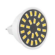 お買い得  LED スポットライト-GU5.3(MR16) LEDスポットライト MR16 24 LEDの SMD 5733 装飾用 温白色 クールホワイト 400-500lm 2800-3200/6000-6500K 交流220から240 AC 110-130V