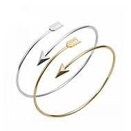 Dames Bangles Cuff armbanden - Hart, Liefde, Anker Dames, Standaard, Modieus Armbanden Sieraden Zilver / Gouden Voor Feest Dagelijks Causaal