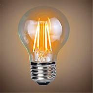1PCS 4W E26/E27 LED Filament Bulbs A19 4 leds COB Decorative Dimmable Warm White 300-350lm 2300-2800K AC 220-240V