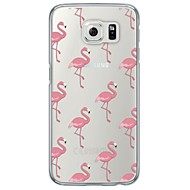 Flamingos Tile Pattern Soft Ultra-thin TPU Back Cover For Samsung GalaxyS7 edge/S7/S6 edge/S6 edge plus/S6/S5/S4