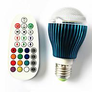 tanie Żarówki LED kulki-GU10 B22 E26/E27 Żarówki LED kulki A60(A19) 3 Diody lED High Power LED Przysłonięcia Aktywacja za pomocą dźwięku Zdalnie sterowana RGB 450