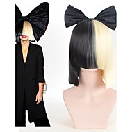 cheap Makeup & Nail Care-halloween party online sia alive this is acting half black blonde short wig with bowknot accessory costume cosplay wig