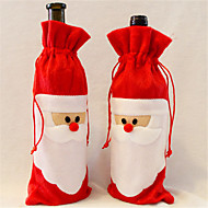 halpa Kodin sisustus-1 kpl punaviiniä pullon kansi joulupukki jouluateria kattaukseen kodin osapuolelle