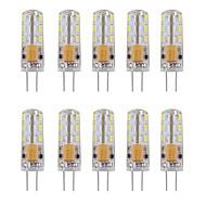 Χαμηλού Κόστους Φωτιστικά LED δυο ακίδων-10pcs 1W 460 lm G4 LED Φώτα με 2 pin Σωλήνας 24 leds SMD 3014 Διακοσμητικό Θερμό Λευκό Ψυχρό Λευκό AC 12V DC 12V