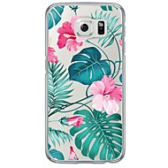 cheap Cases / Covers for Samsung-Case For Samsung Galaxy Samsung Galaxy S7 Edge Ultra-thin Translucent Back Cover Flower Soft TPU for S7 edge S7 S6 edge plus S6 edge S6