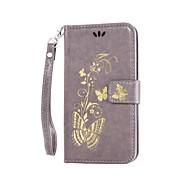 Для Кейс для  Samsung Galaxy Кошелек / Бумажник для карт / со стендом / Флип Кейс для Чехол Кейс для Сияние и блеск ТвердыйИскусственная