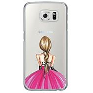tanie Galaxy S5 Etui / Pokrowce-Na Samsung Galaxy S7 Edge Etui Pokrowce Ultra cienkie Półprzezroczyste Etui na tył Kılıf Seksowna dziewczyna Miękkie TPU na SamsungS7