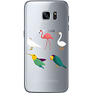 Для Samsung Galaxy S7 Edge С узором Кейс для Задняя крышка Кейс для Сова Мягкий TPU Samsung S7 edge / S7 / S6 edge plus / S6 edge / S6