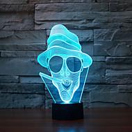 저렴한 -금연 터치 디 밍 3d 주도 밤 빛 7colorful 장식 분위기 램프 참신 조명 빛