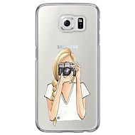 Для Samsung Galaxy S7 Edge Ультратонкий / Полупрозрачный Кейс для Задняя крышка Кейс для Мультяшная тематика Мягкий TPU SamsungS7 edge /