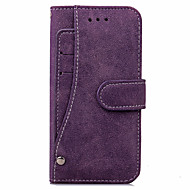billige iPhone-etuier-Til iPhone X iPhone 8 iPhone 8 Plus iPhone 7 iPhone 7 Plus Etuier Pung Kortholder Heldækkende Etui Helfarve Hårdt Kunstlæder for Apple