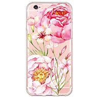 Для Кейс для iPhone 6 / Кейс для iPhone 6 Plus Ультратонкий / Полупрозрачный Кейс для Задняя крышка Кейс для Цветы Мягкий TPU AppleiPhone