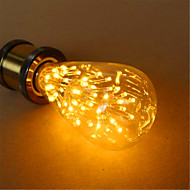 E26/E27 Ampoules Globe LED ST64 54 diodes électroluminescentes LED Dip Décorative Blanc Chaud 800lm 2300K AC 100-240V