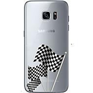 Недорогие Чехлы и кейсы для Galaxy S7 Edge-Кейс для Назначение SSamsung Galaxy Samsung Galaxy S7 Edge С узором Кейс на заднюю панель Флаг Мягкий ТПУ для S7 edge S7 S6 edge plus S6