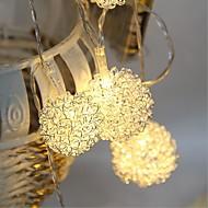tanie Taśmy świetlne LED-Łańsuchy świetlne 10 Diody LED Ciepła biel Pilot zdalnego sterowania Przysłonięcia Wodoodporne Zmieniająca Kolor Mozliwość połączenia