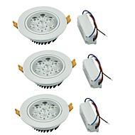 YouOKLight 3PCS 7W 7xLEDs Epistar  600lm Warm White/ White LED Ceiling Lamp (AC 100-240V)