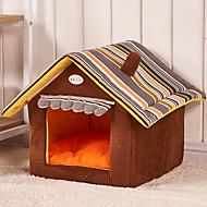 お買い得  ペット用品 & アクセサリー-ネコ 犬 ベッド ペット用 マット/パッド カートゥン 折り畳み式 ソフト コーヒー レッド グリーン ブルー ピンク ペット用